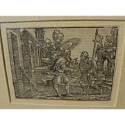 HANS BROSAMER (1506-1554) wood engraving by early German Old Master artist