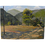 GRACE ALLISON GRIFFITH (1885-1955) Northern California plein air art oil landscape painting