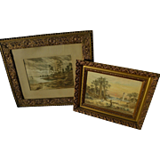 19th century watercolor paintings of Florida coast and other landscape by artist Carl H. Schmidt