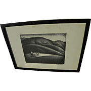 MILFORD ZORNES (1908-2008)  reproduction offset print hand signed by renowned California Style watercolor master artist