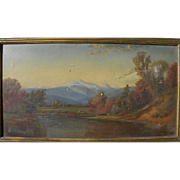 Nineteenth century oil painting copy of White Mountains landscape by Alfred Thompson Bricher