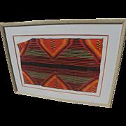 Jack Silverman pencil signed high quality silkscreen print of Navajo textile