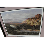 """OLAF WIEGHORST (1899-1988) pencil signed limited edition print """"Watering Hole"""" by noted Western artist"""
