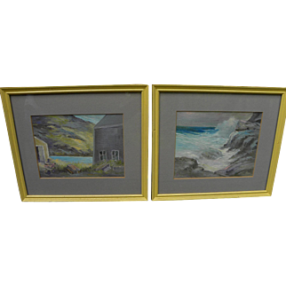 ROCKWELL KENT JR. (1909-1986) **pair** Maine paintings by son of the famous artist