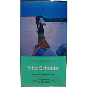 FRITZ SCHOLDER (1937-2005) pencil signed 1981 poster for Taos New Mexico gallery by the noted American Indian artist