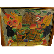 ANDRE SATURNE (1927-1983) rare early Haitian art still life painting