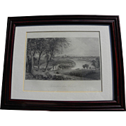 Fine 1873 engraving print of Philadelphia view by listed artist ROBERT HINSHELWOOD (1812-1879)