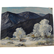 EFFIE PARNELL (1888-1986) vintage California plein air desert painting by actress and listed artist