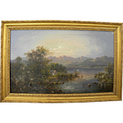 American art fine antique unsigned Hudson River painting