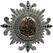 Vintage Mexican military breast star award