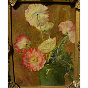 Old floral still life signed with monogram