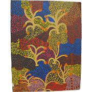 Australian aboriginal art original 1992 painting by JUNE BIRD NGALE (1954-)