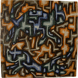 Abstract contemporary American art small interesting painting