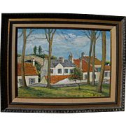 ALOIS LECOQUE (1891-1981) oil painting by well listed European Impressionist mentored by Renoir