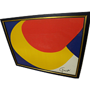"ALEXANDER CALDER (1898-1976) lithograph print ""Convection""  from ""Flying Colors"" series 1974 signed in the plate"