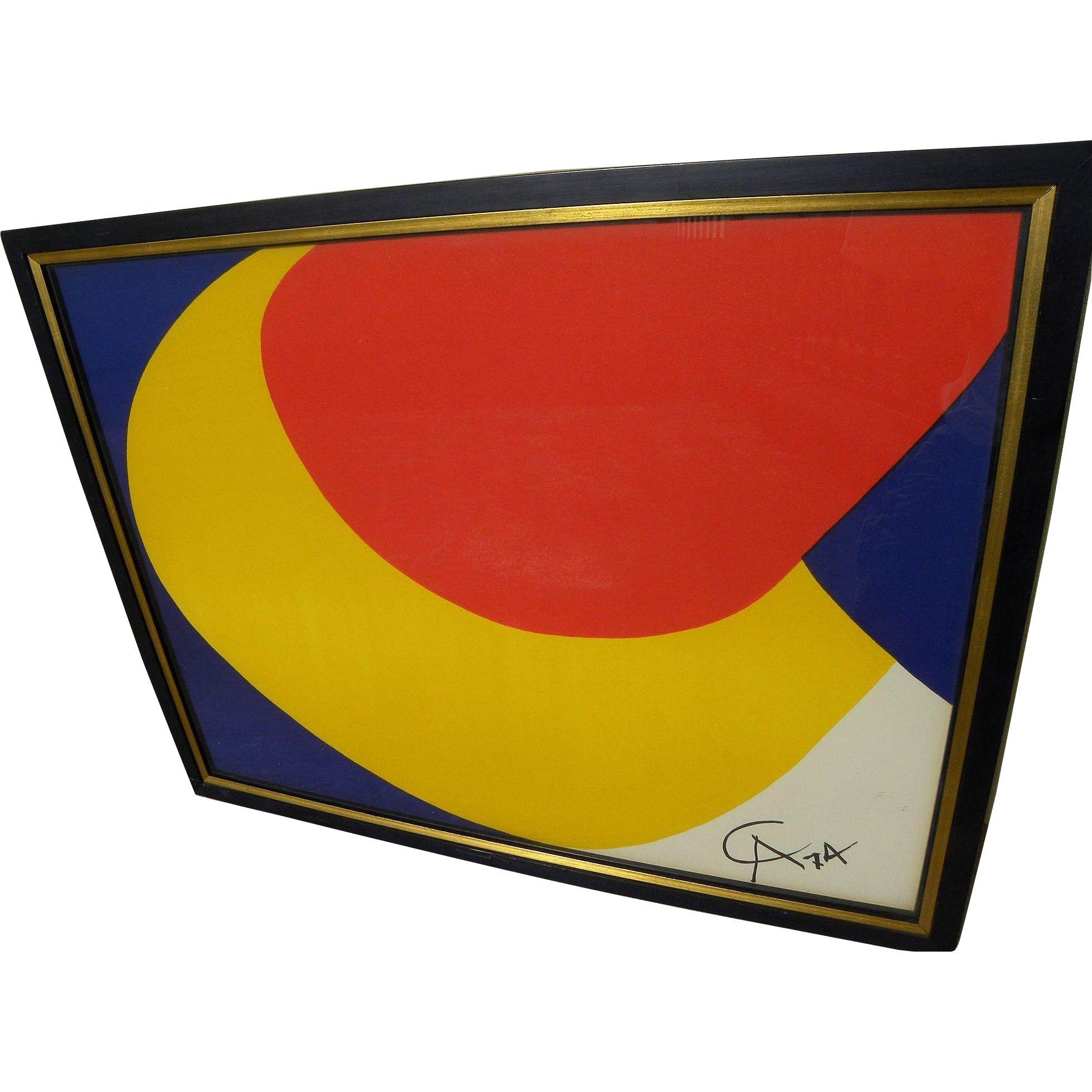 """ALEXANDER CALDER (1898-1976) lithograph print """"Convection""""  from """"Flying Colors"""" series 1974 signed in the plate"""