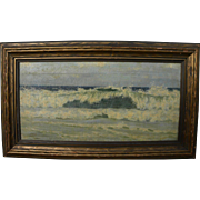DEWITT PARSHALL (1864-1956) painting of coastal waves possibly Maine dated 1895