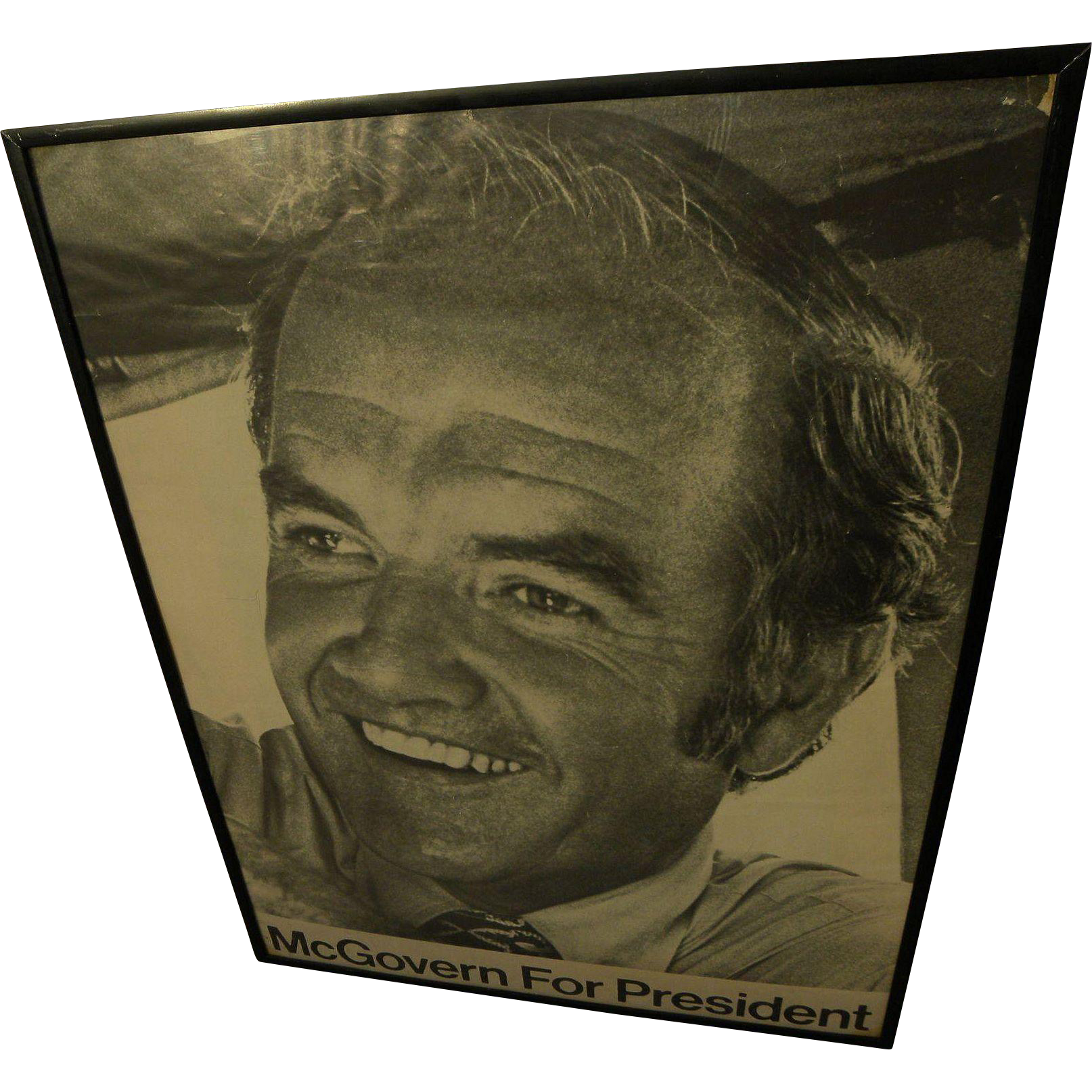 George McGovern for President 1972 poster vintage political memorabilia