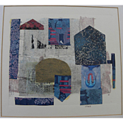 "MARION ""MAL"" LEWIS (1925-2010) abstract collage art by Montana artist"