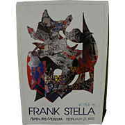FRANK STELLA (1936-) hand signed poster for 1992 Aspen Art Museum exhibition