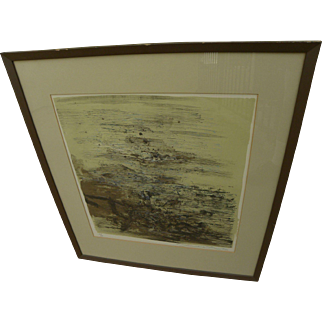 ZAO WOU-KI (1921-2013) pencil signed limited edition lithograph by the highly important Asian master artist