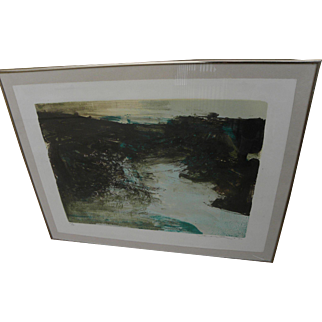 ZAO WOU-KI (1921-2013) pencil signed limited edition mid-century lithograph by the highly important Asian master artist