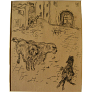 PIERRE BONNARD (1867-1947) original 1924 etching by the major French Post-Impressionist