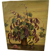 BERTHA TOWNSEND COLER (1865-1948) still life oil painting by listed California woman artist