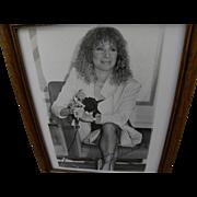 BARBARA STREISAND hand signed circa 1980 black and white photo