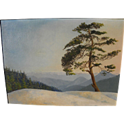 California plein air art Sequoia National Park panoramic landscape painting