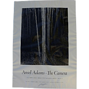 "ANSEL ADAMS (1902-1984) hand signed black and white poster ""Aspens, Northern New Mexico, 1958"""