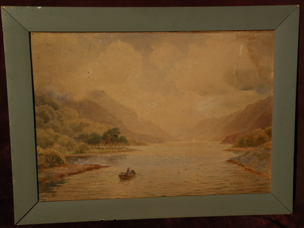 JOSEPH WM. CAREY (1859-1937) listed Irish art Scottish watercolor landscape painting 1920