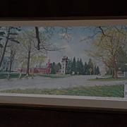 "NORMAN ROCKWELL 1971 hand signed poster print ""Springtime in Stockbridge"""