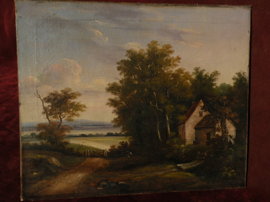 Possibly JOHN V. CORNELL 19th century American Hudson River style painting dated 1851