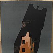 TADEUSZ TREPKOWSKI (1914-1954) Important Polish graphic art monumental 1952 poster with anti-war message