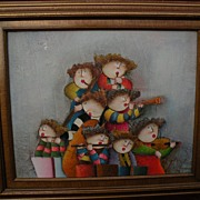 ROYBAL colorful decorative painting of children style of Graciela Rodo Boulanger