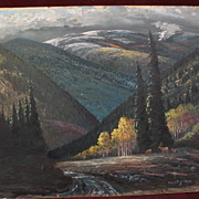 EVERETTE H. SLOAN 20th century New Mexico art landscape painting mountains near Santa Fe