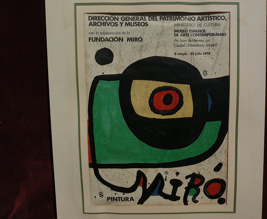 JOAN MIRO (1893-1983) lithograph print for 1978 Madrid contemporary art museum exhibition