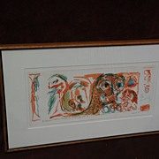 PIERRE ALECHINSKY (1927-) CoBra post war modern art major artist signed numbered limited edtion lithograph print