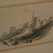 DAVID ROBERTS (1796-1864) **PAIR** of 19th century orientalist art subject matter prints