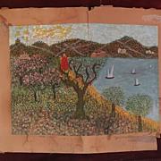 YEHOSHUA BRANDSTATTER (1891-1975) Israeli listed art Sea of Galilee painting