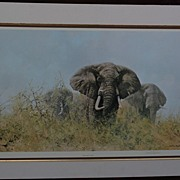 DAVID SHEPHERD (1931-) important African wildlife art pencil signed large photolithograph print