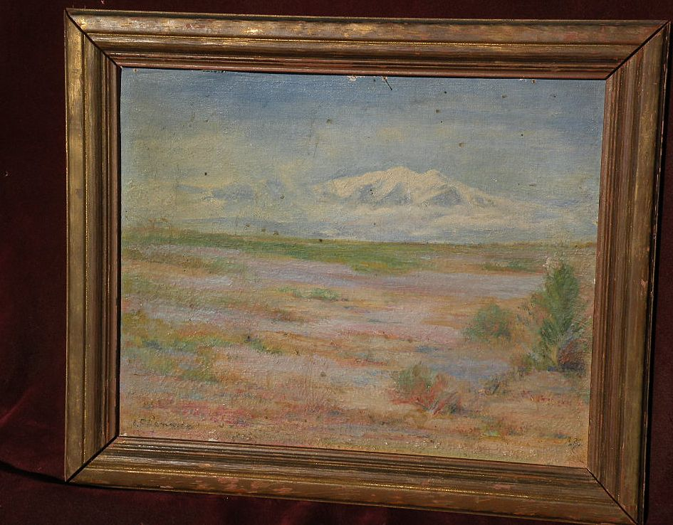 EUGENE FRANDZEN (1893-1972) California art desert scene plein air painting