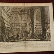 GIOVANNI BATTISTA PIRANESI (1720-1778) 18th century Italian etching Veduta print