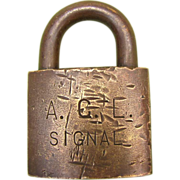 ACL (Atlantic Coast Line ) Brass SIGNAL LOCK no key