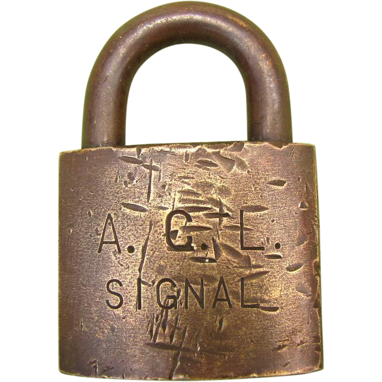 ACL (Atlantic Coast Line ) Brass SIGNAL LOCK no key
