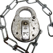 PC RR (Penn Central Railroad)- steel SWITCH LOCK, no key