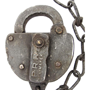 PRR (PENNSYLVANIA) railroad - steel SWITCH LOCK, by Slaymaker- no key