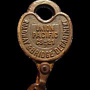 UNION PACIFIC Railroad- Roadway & Bridge Department Lock