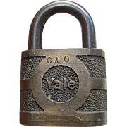 CO (Chesapeake & Ohio) Railroad brass Lock  (no key)